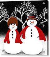 Mr And Mrs Snow 1 Acrylic Print
