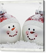 Mr. And Mrs. Snowman Acrylic Print