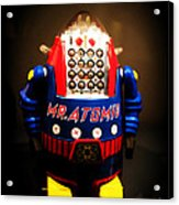 Mr. Atomic Tin Robot Acrylic Print by Edward Fielding