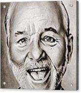 Mr Bill Murray Acrylic Print by Brian Broadway