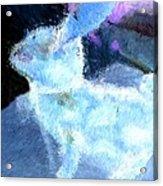 Mr. Blue Bunny Acrylic Print