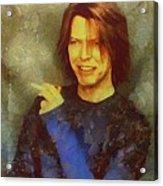 Mr Bowie Acrylic Print
