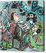 Mr. Gears Mixed Media Acrylic Print