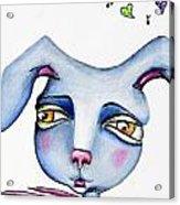 Mr Happy Bunny Acrylic Print