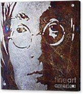 Mr Lennon Acrylic Print by Chris Mackie