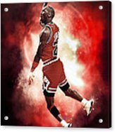 Mr. Michael Jeffrey Jordan Aka Air Jordan Mj Acrylic Print