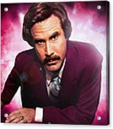 Mr. Ron Mr. Ron Burgundy From Anchorman Acrylic Print