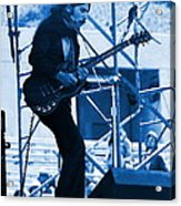 Mrdog #63 Enhanced In Blue Acrylic Print