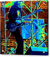 Mrdog #63 Enhanced In Cosmicolors Acrylic Print