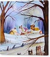 Mrs. Dunn's Winter Acrylic Print