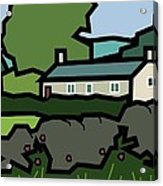Mrs Hartly's Cottage Acrylic Print by Kenneth North