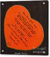 Mrs. Heartfelt Says Acrylic Print