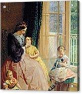 Mrs Hicks Mary Rosa And Elgar Acrylic Print by George Elgar Hicks