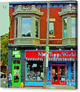 Mrs Tiggy Winkle's Toy Shop And Lost Marbles Richmond Rd The Glebe Paintings Ottawa Scenes C Spandau Acrylic Print