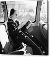 Mrs. William Mcmanus Reading On A Train Acrylic Print
