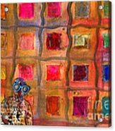 Ms Cool Goes Window Watching In Color Acrylic Print