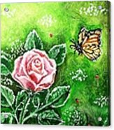 Ms. Monarch And Her Ladybug Friends Acrylic Print