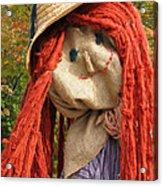 Ms Scarecrow Acrylic Print