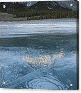 Mt. Abraham And Ice On Abraham Lake Acrylic Print