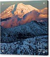 Mt Adams Sunset Acrylic Print