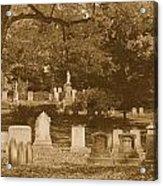 Mt Auburn Cemetery 13 Sepia Acrylic Print