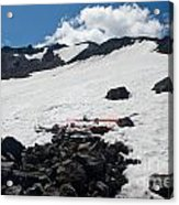 Mt. Bachelor Summit With Skis Acrylic Print