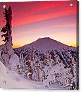 Mt. Bachelor Winter Twilight Acrylic Print