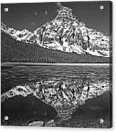 1m3641-bw-mt. Chephren Reflect  Acrylic Print