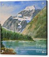 Mt. Edith Cavell W/c Acrylic Print