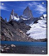 Mt Fitzroy And Laguna De Los Tres Acrylic Print