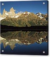 Mt Fitzroy At Dawn Patagonia Acrylic Print