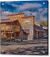 Mt Gardner Inn And Fly Shop Acrylic Print