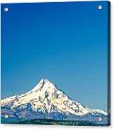 Mt. Hood And Blue Sky Acrylic Print