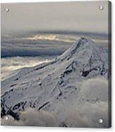 Mt. Hood Between Clouds Acrylic Print