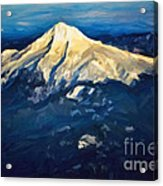Mt. Hood From Above Acrylic Print