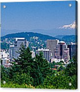 Mt Hood Portland Oregon Usa Acrylic Print