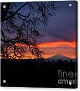 Mt Hood Sunrise Acrylic Print