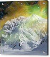 Mt. Hunter Aurora # Da 129 Acrylic Print