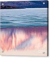 Mt Laurier Mirrored On Lake Laberge Yukon Canada Acrylic Print