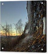 Mt Mckay Spring Waterfall Acrylic Print