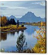 1m9208-mt. Moran And The Snake River, Wy Acrylic Print