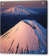 Mt Ngauruhoe And Mt Ruapehu Acrylic Print