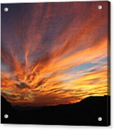 Mt Ord Sunset Arizona Acrylic Print