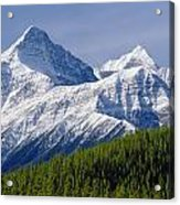 1m3627-mt. Outram And Mt. Forbes Acrylic Print