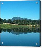 Mt Prevost Over Quamichan Lake Acrylic Print