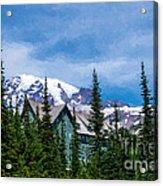 Mt Rainier And Paradise Inn Acrylic Print