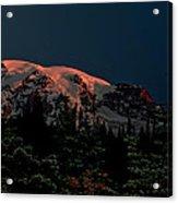 Mt Rainier At Dawn Acrylic Print