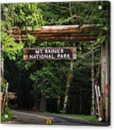 Mt Rainier Gateway Acrylic Print