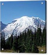 Mt. Rainier In August Acrylic Print