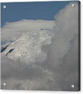 Mt. Rainier In The Clouds Acrylic Print